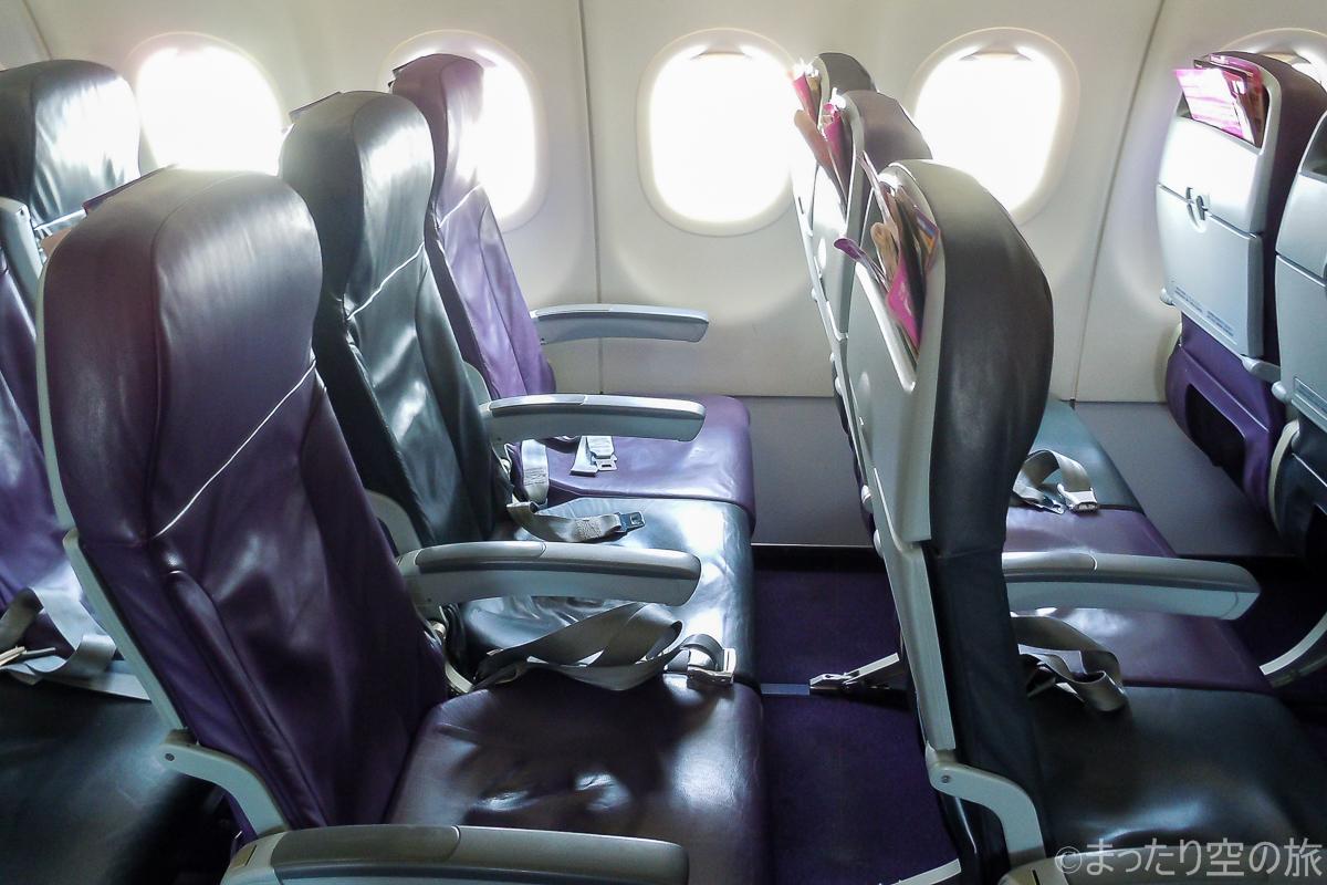 シートポケット2箇所タイプの座席