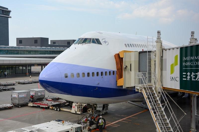 搭乗機のB747-400