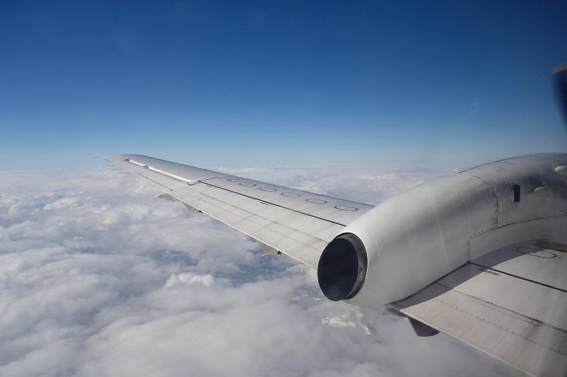 HACのSAAB340B-WTからの機窓
