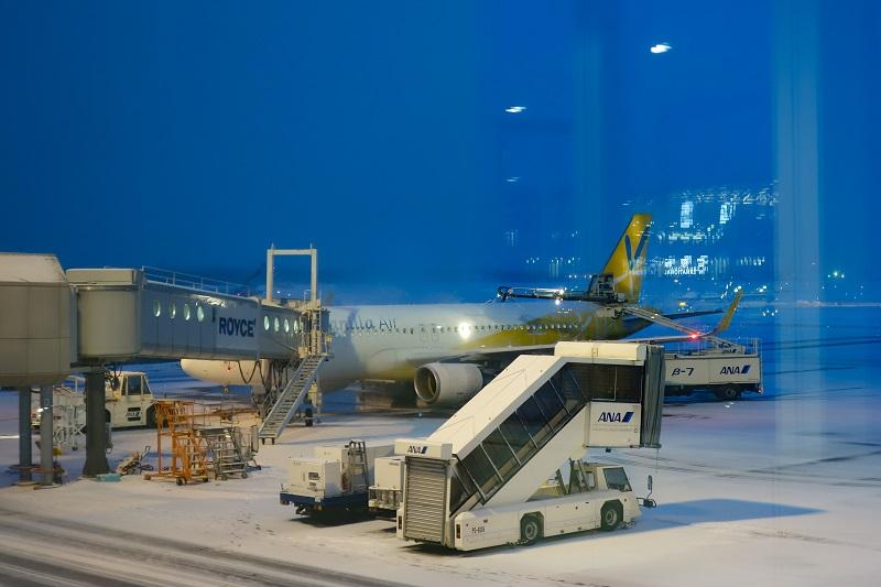 新千歳空港に駐機するバニラエアのA320型機