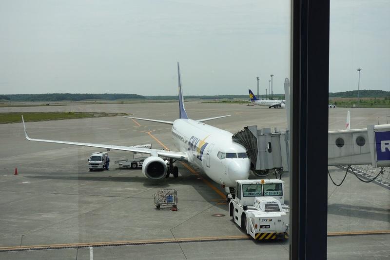 新千歳空港に駐機するSKYMARKのB737-800型機