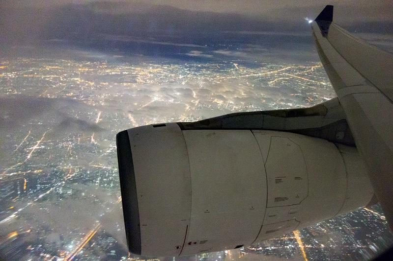 タイ国際航空のA330-300からの機窓