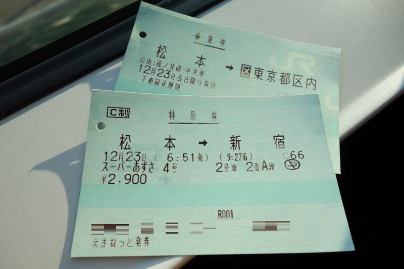 E353系新型スーパーあずさデビュー列車のチケット