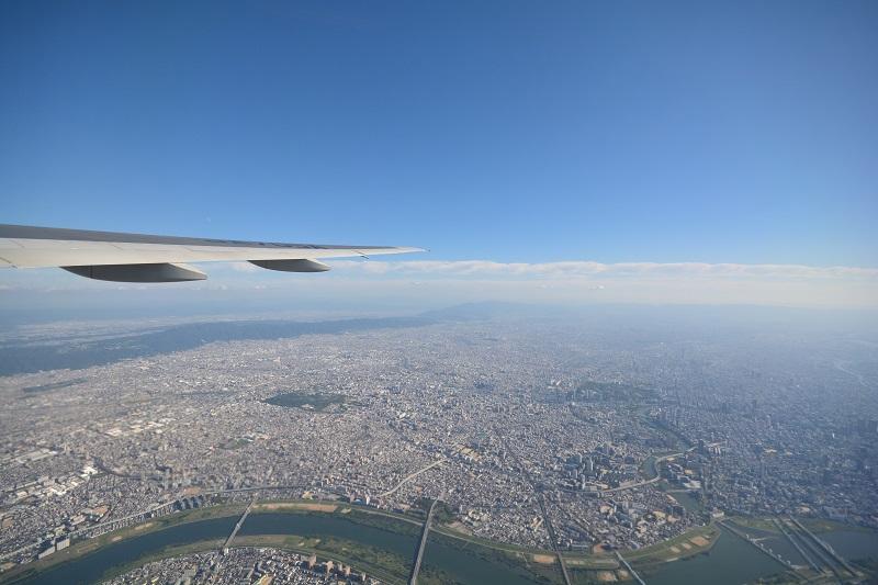 ANAのB777-200からの機窓