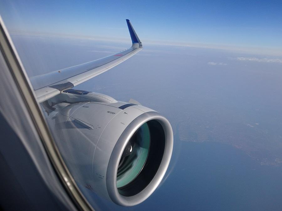 ANAのA320neoからの機窓