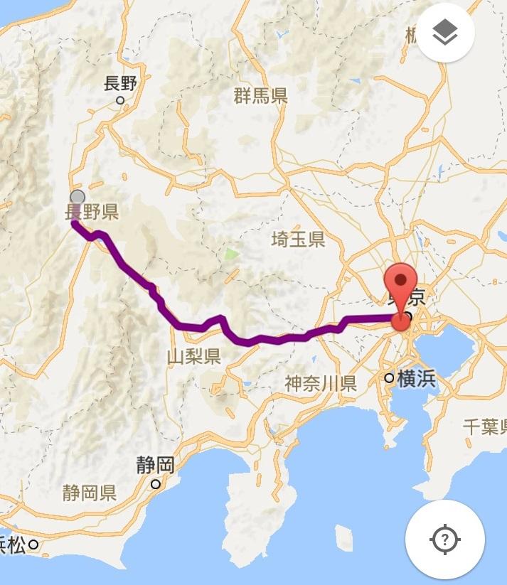 E351系特急スーパーあずさ松本行きのルート