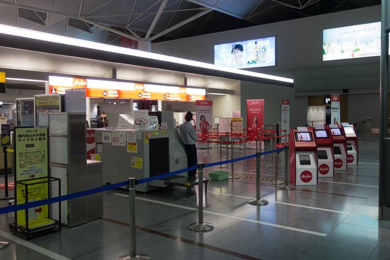 エアアジア・ジャパンの搭乗手続きカウンター