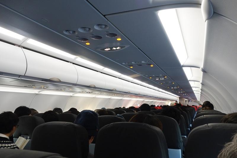 エアアジア・ジャパンの機内の様子