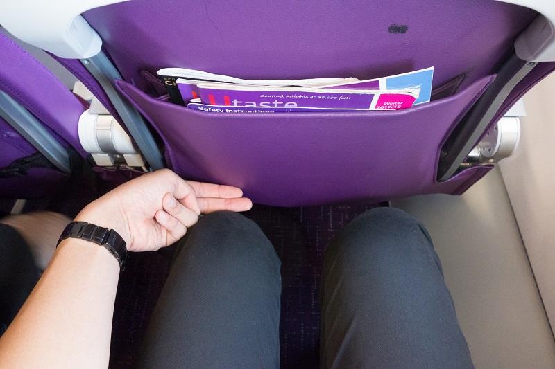 他社LCCと同等の広さの座席間隔の座席