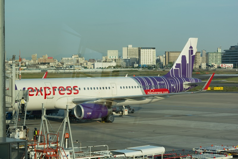 搭乗機の香港エクスプレスのA321-200型機(B-LED)