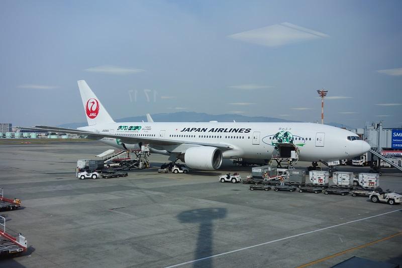 今回の搭乗機のJALのB777-200型機(JA8984)