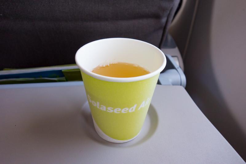 機内サービスのアゴユズスープ