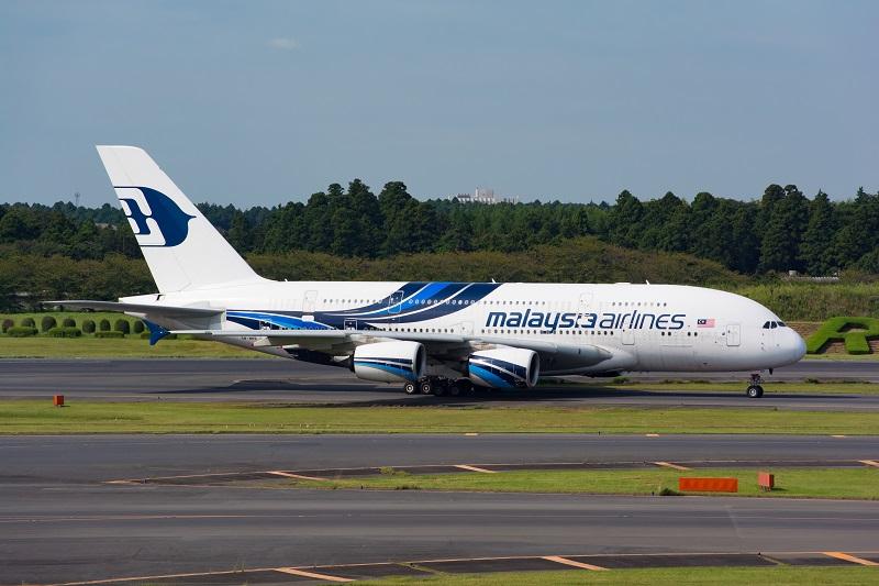 搭乗機と同型機のマレーシア航空のA380-800型機