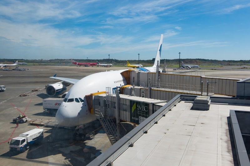 搭乗機のA380-800型機(9M-MNC)