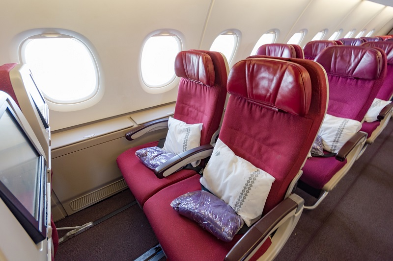 今回の2階席エコノミークラス33Kの座席