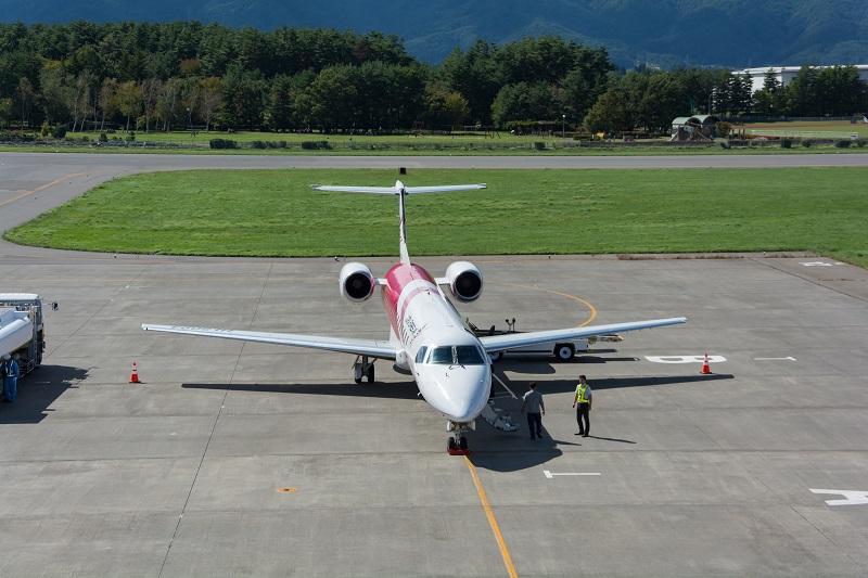 松本空港展望デッキからの景色