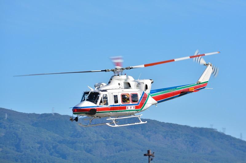 長野県がリースで導入している防災ヘリ