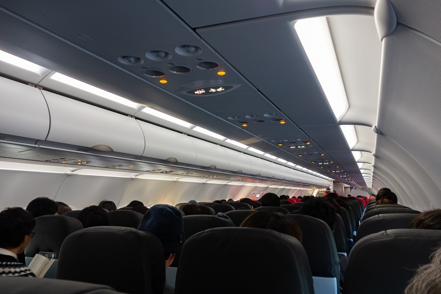 着席時の機内の様子