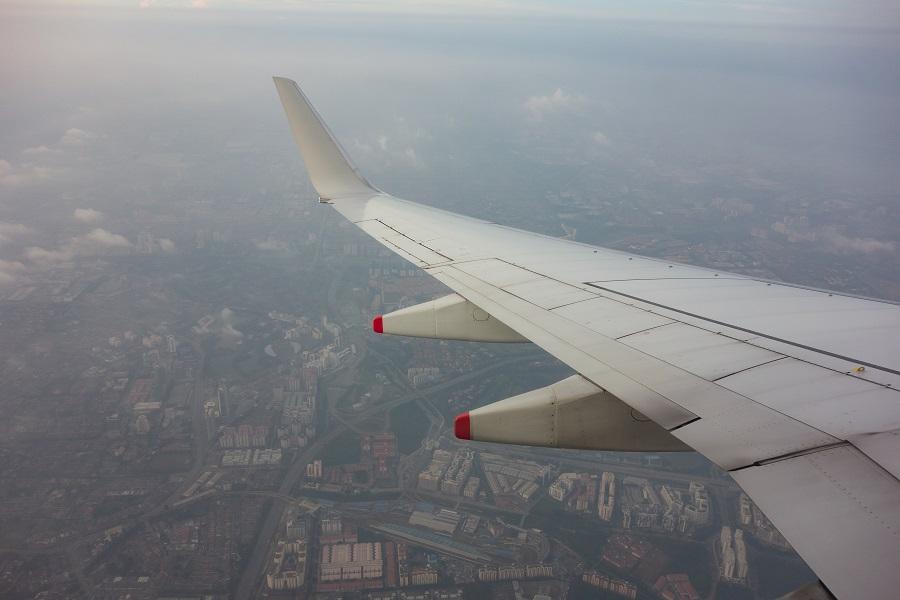 クアラルンプール上空の景色