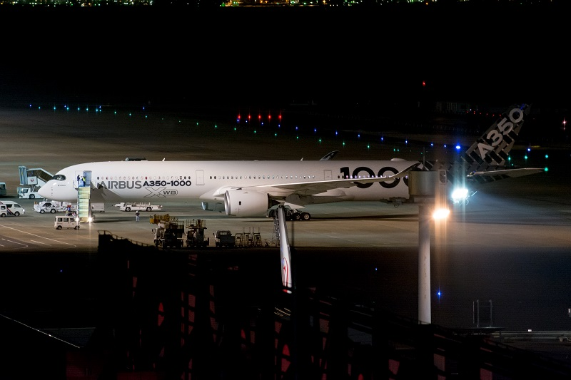 JALが導入予定のA350-1000型機(エアバスハウスカラー)