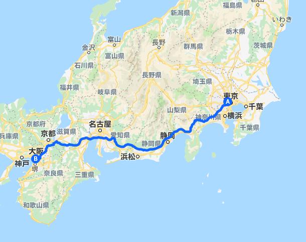 東京と大阪を結ぶ高速バスルート