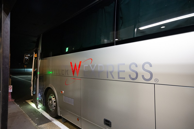 なんばOCAT(湊町バスターミナル)降車時の様子