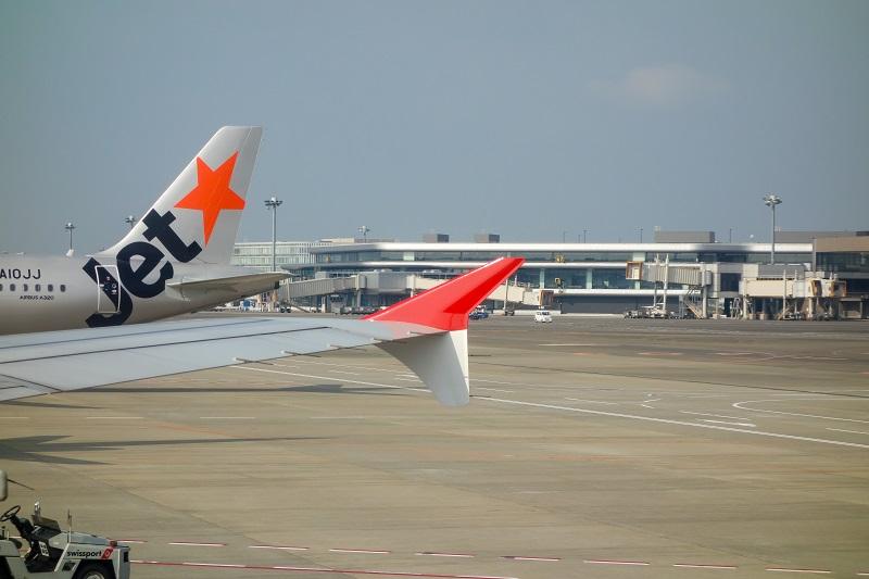 香港航空のA320のウイングチップフェンス