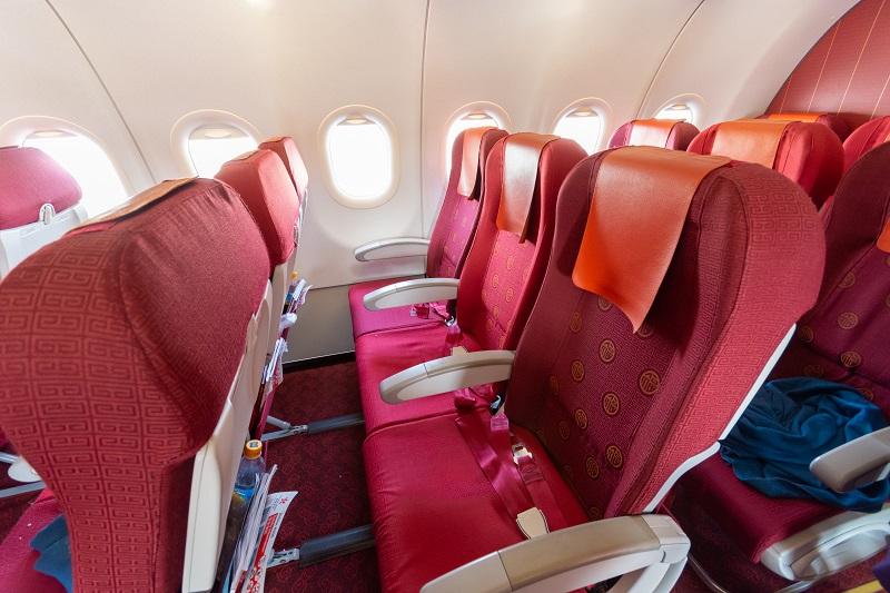 香港航空のA320のエコノミークラスの全体画像
