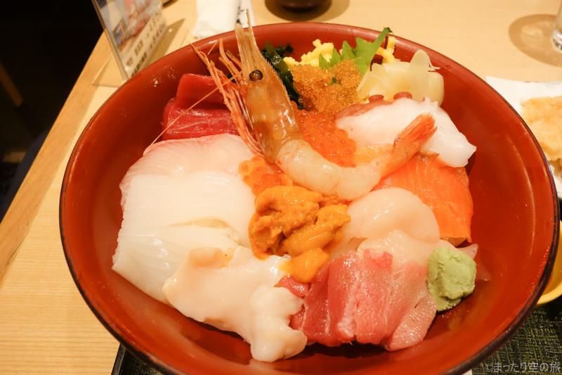 北海道で食べた海鮮丼