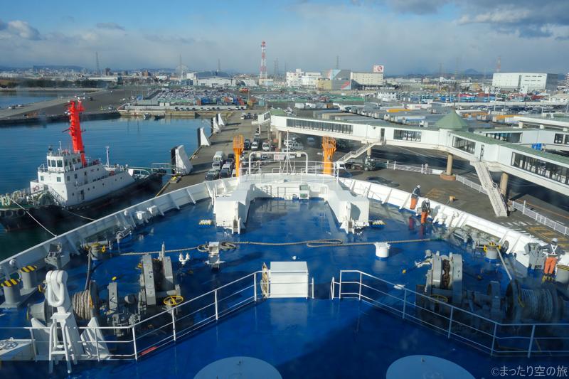 仙台港入港時の景色