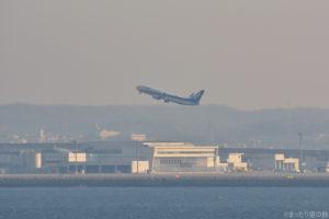 セントレアを離陸するANA機