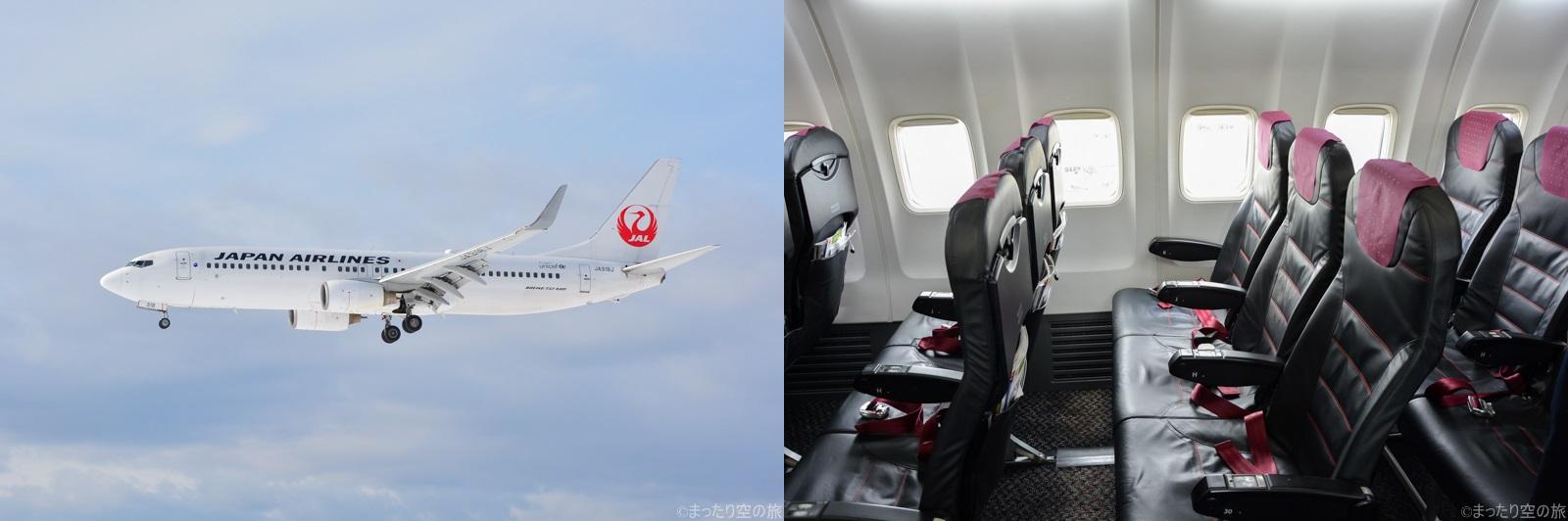 JALのB737-800の座席と機体