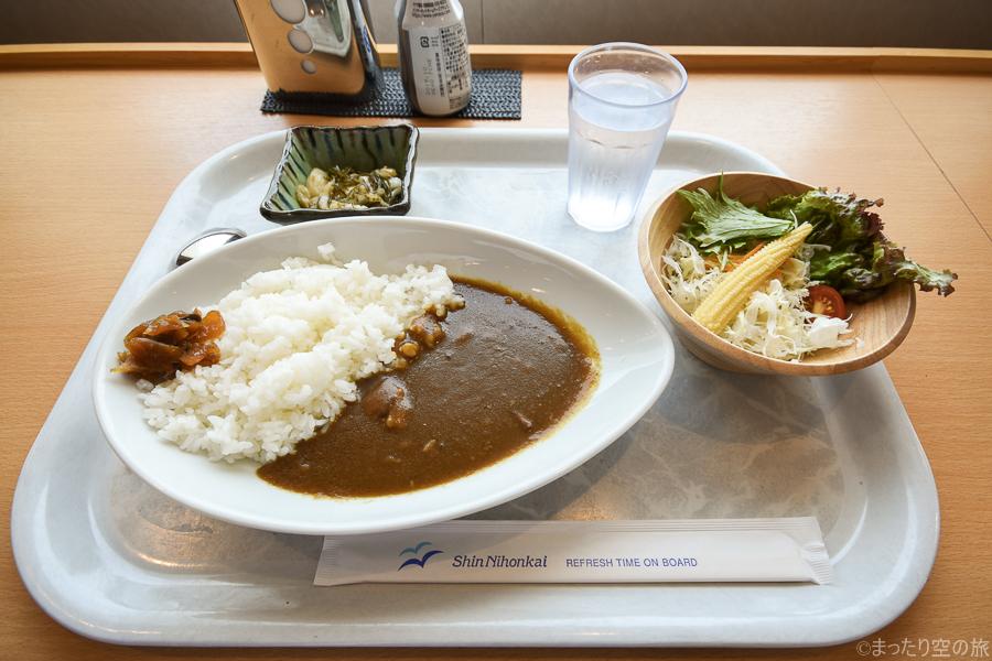 新日本海フェリー特製カレーの昼食