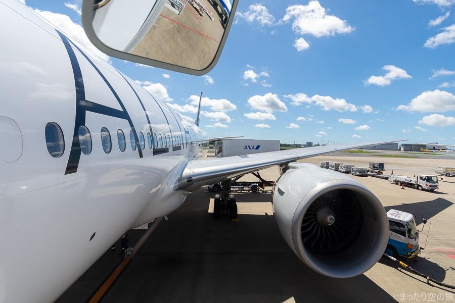 降機時に見たスタアラ塗装の搭乗機