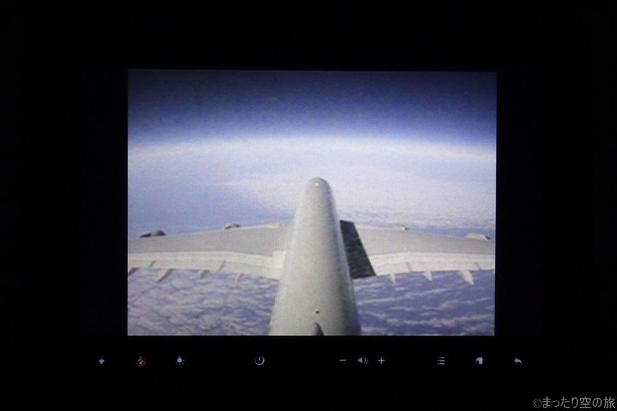 水平飛行中の機外カメラからの景色