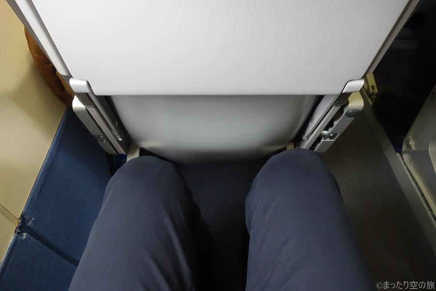 HACの座席の足元の様子