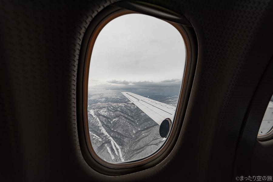 機内から見た上空の景色