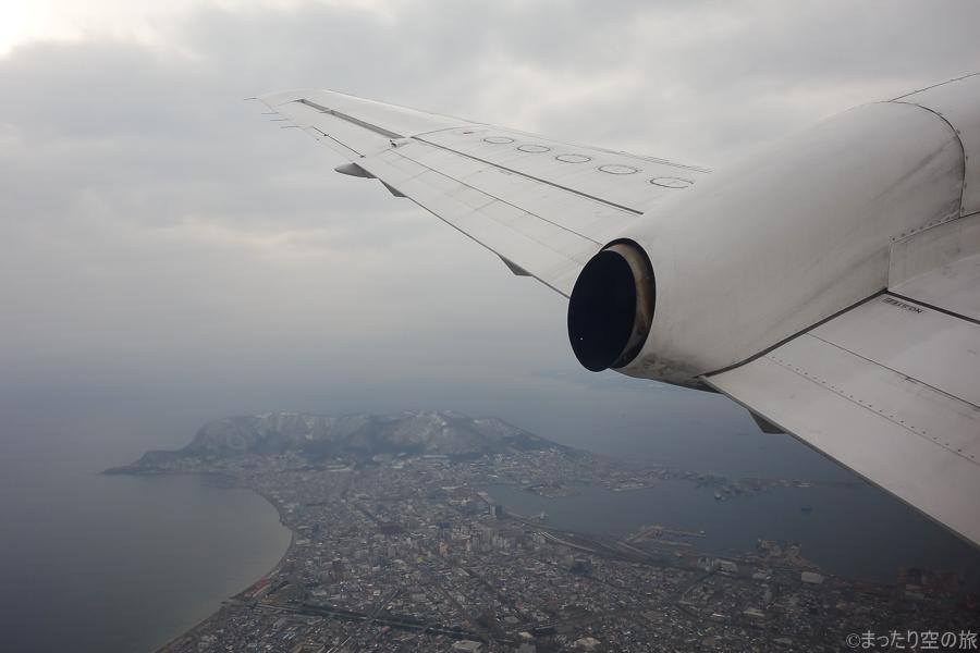上空から見た函館の景色
