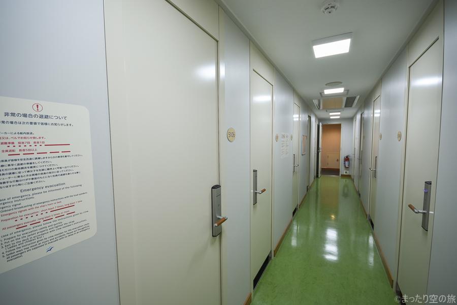 ツーリストSの区画の廊下
