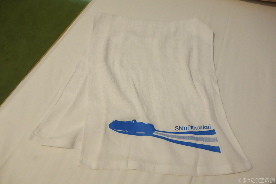 新日本海フェリー特製のタオル
