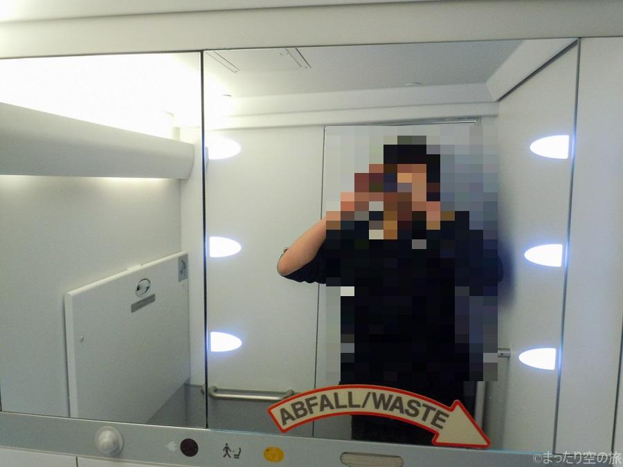 トイレ内部の鏡