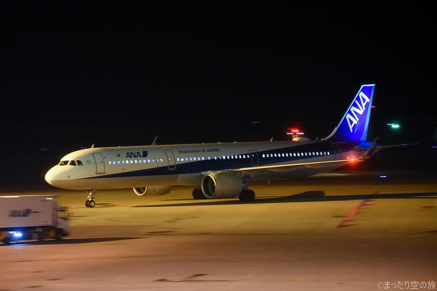 搭乗機のANAのA321neo型機