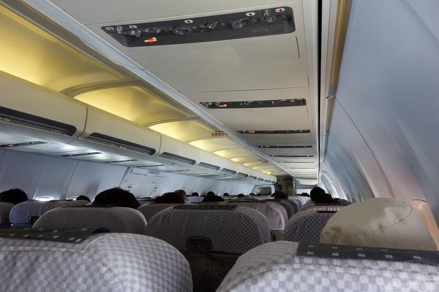 少ない搭乗率の機内
