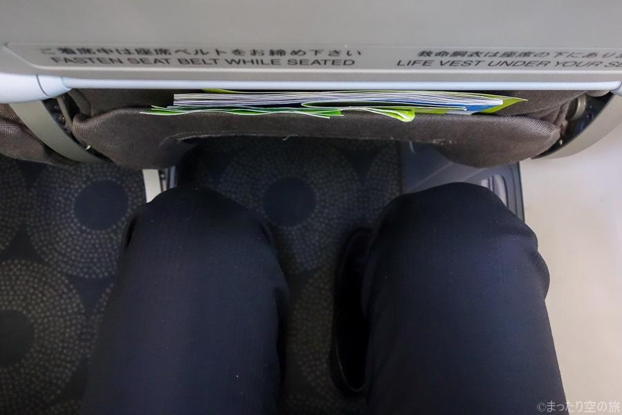 前席との足元間隔