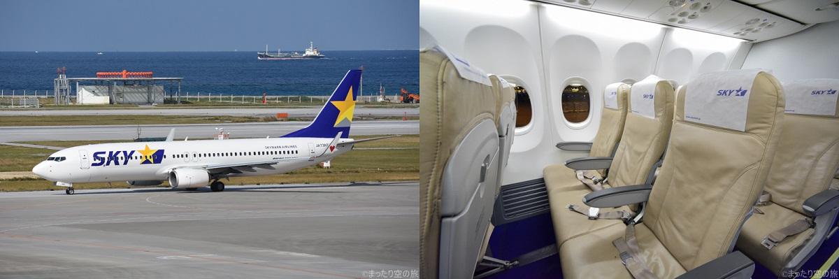 スカイマークのB737-800の座席と機体