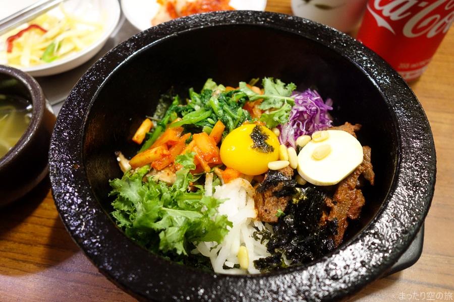 ソウルで食べた石焼きビビンバ