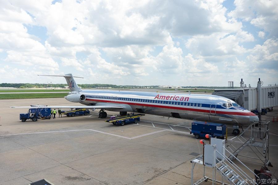 メンフィス空港に駐機する搭乗機