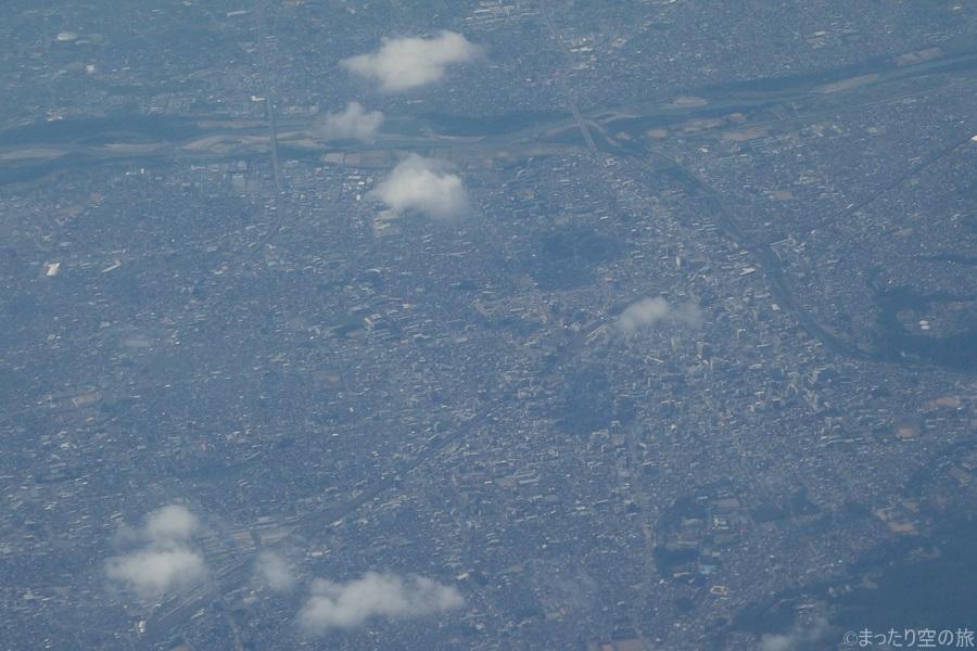 上空から見えた長野駅周辺