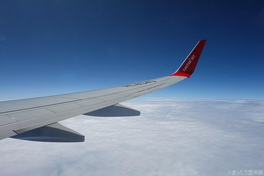 水平飛行時の景色