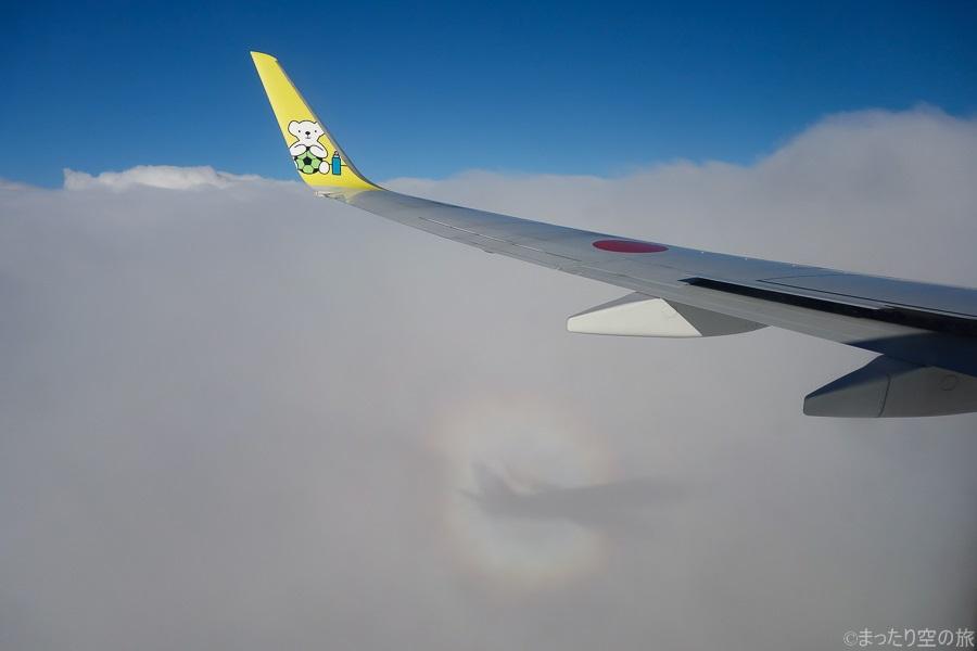 機内から見えたブロッケン現象